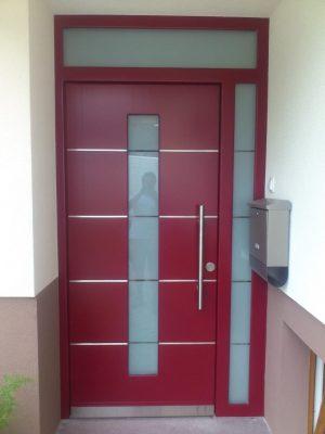 lesena vrata inox dodatki