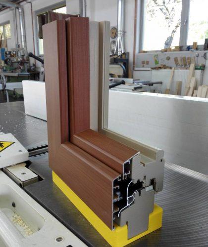 lesena in alu les okna